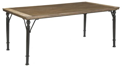 Dining Tables With Metal Legs 7 Rectangular Dining Room Table Set W Wood Top Metal Legs By Signature Design By