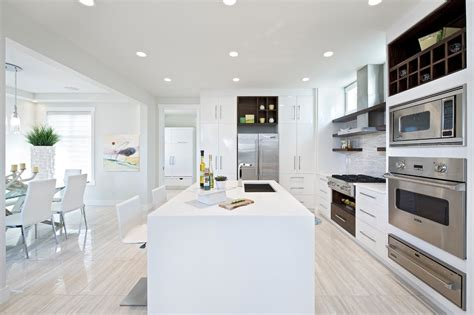 contemporary white kitchen white washed wood floors living room eclectic with accent