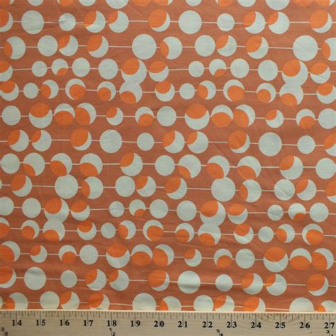 printable fabric by the yard amy butler midwest modern martini rust cotton fabric print