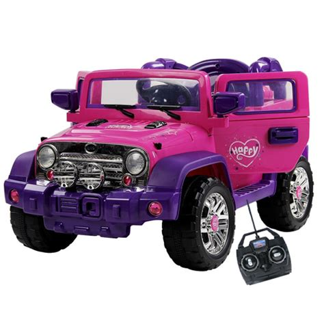 pink kids jeep buy girls pink electric battery powered ride on toys
