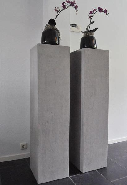 betonlook zuilen industrieel interieur industrial