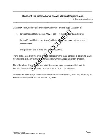 consent letter template uk child travel consent united kingdom templates