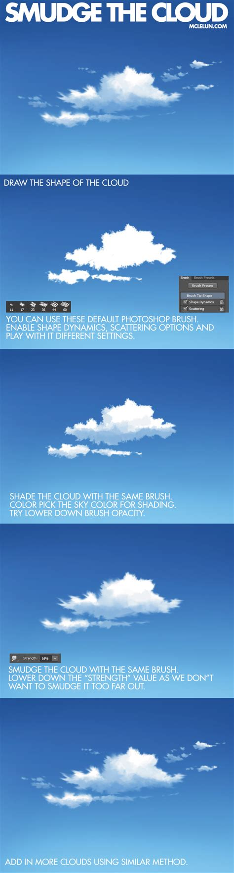 tutorial smudge digital painting smudge the cloud by mclelun on deviantart