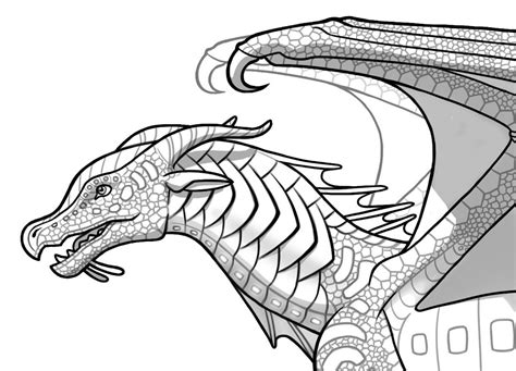 seawing dragon coloring page image seawing by joy ang png wings of fire fanon wiki