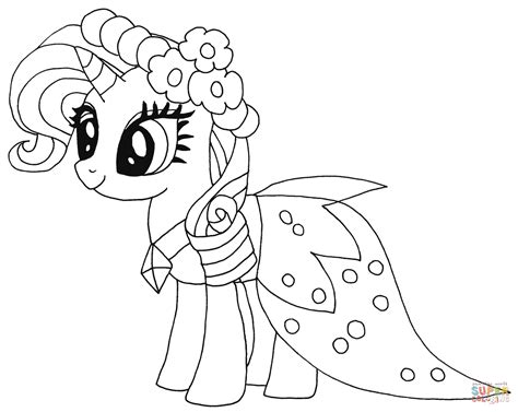 Princess Rarity Coloring Page Free Printable Coloring Pages My Pony Coloring Pages Princess Free Coloring Sheets