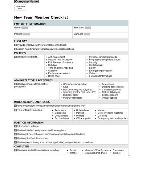 new business checklist template employee list template helloalive