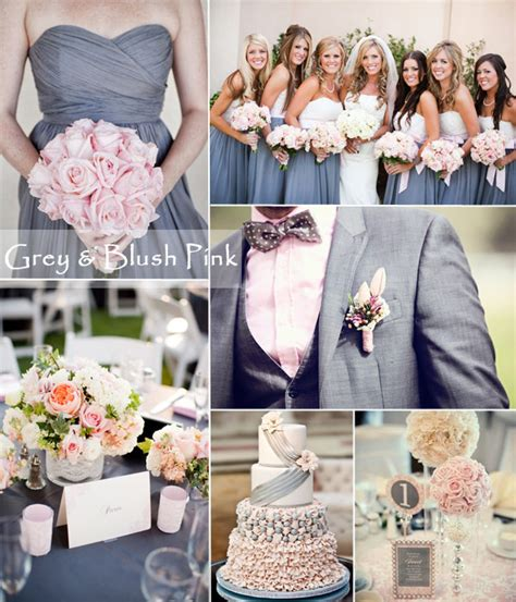 grey and pale pink wedding pale gray bridesmaid dress tulle chantilly wedding