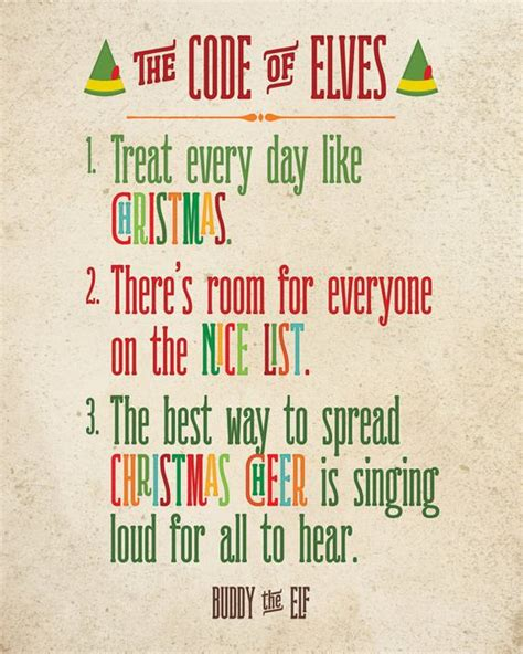 printable elf quotes buddy the elf the elf and elves on pinterest