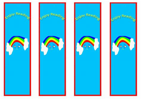 printable rainbow bookmarks rainbow bookmarks birthday printable