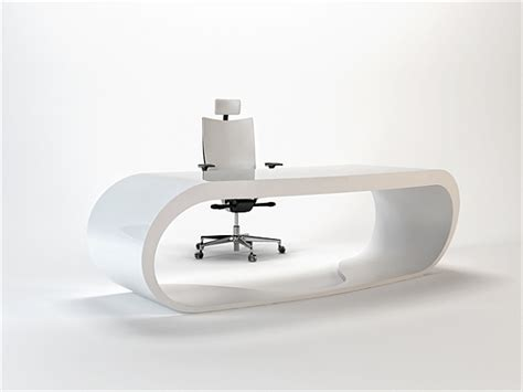 ultra modern desk ultra modern goggle office desks rounded shapes design ideas
