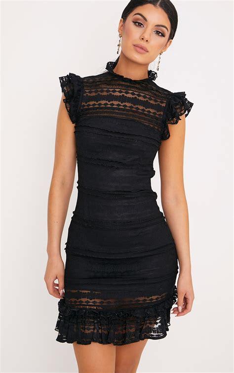Dress W5796uzi D Black White lace dresses black white pink dresses prettylittlething