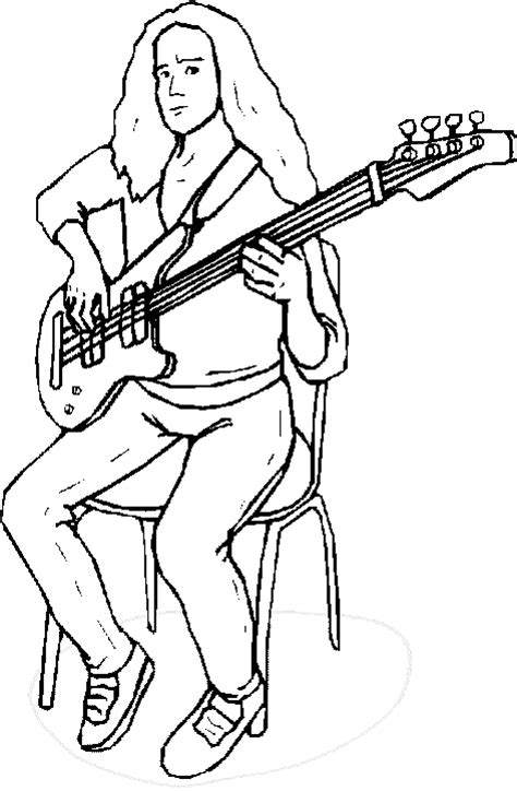 guitar player coloring page guitar player coloring pages bass guitar player coloring