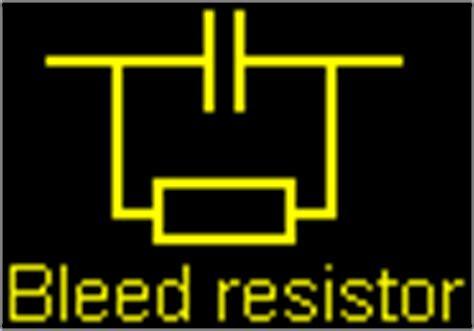 bleed resistor tesla coils mmc capacitor