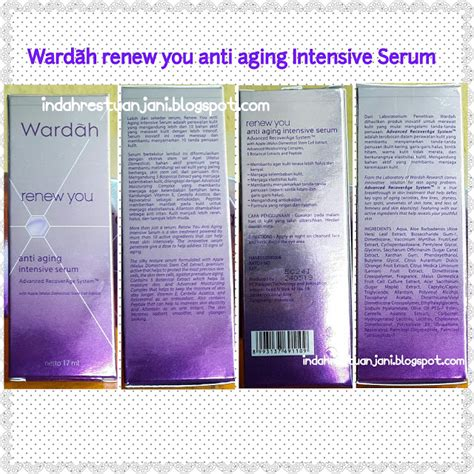 Ready Wardah Renew You Intensive Serum 1 indah restu anjani review wardah renew you anti aging intensive serum