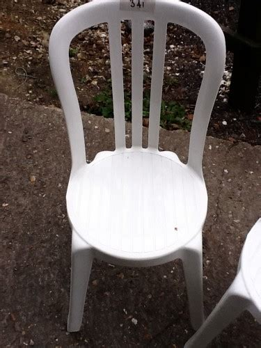 Miami Bistro Chair 250 White Pvc Stacking Chairs For Sale