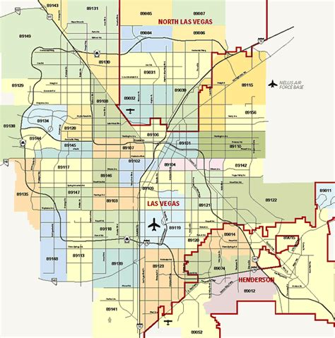 us area code las vegas info map of zip codes