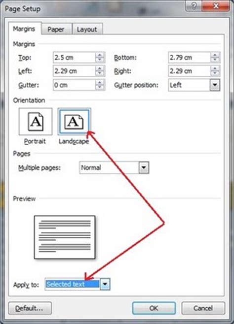 page layout to landscape in word 2007 nisura cara mengubah satu halaman menjadi landscape atau