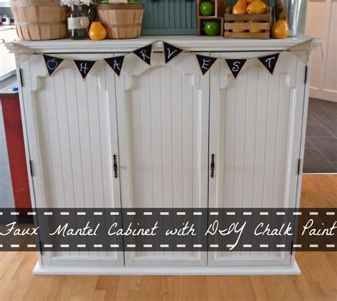 diy chalk painted china cabinet faux mantel cabinet from an old china hutch using diy