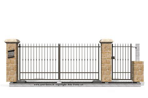 in ferro cancello in ferro battuto 211