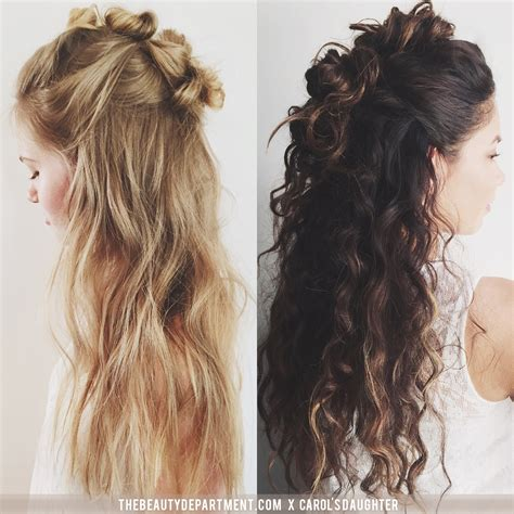 half updo bun hairstyles the beauty department your daily dose of pretty triple