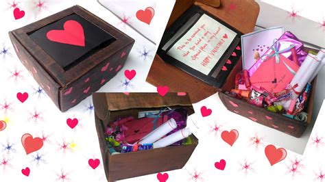 valentines gift box for him diy s day box idea for him
