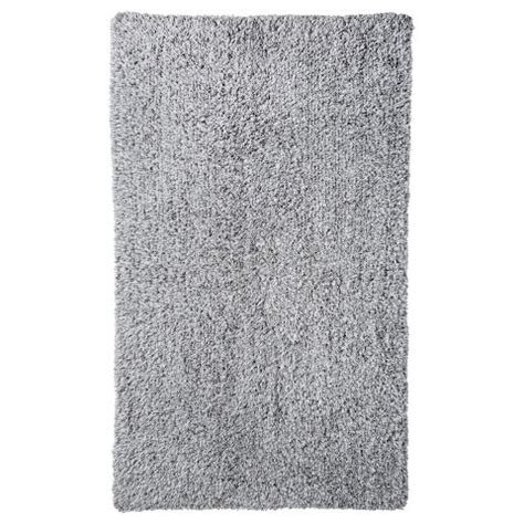 gray bathroom rugs threshold heathered reversible bath rug gray target