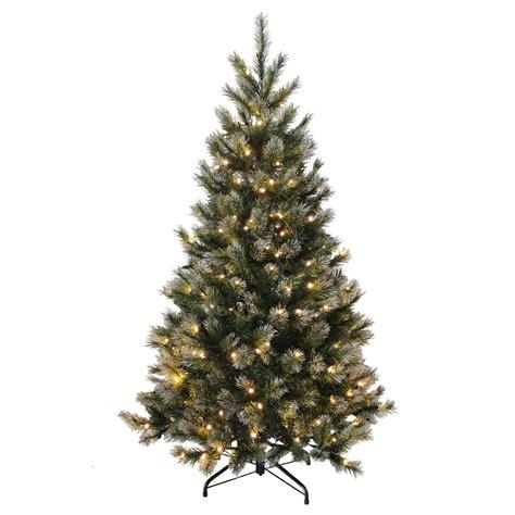green glitter pine artificial pre lit warm white lights