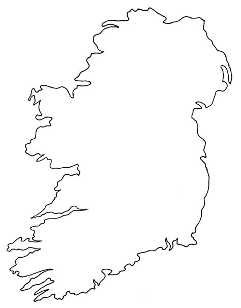 Ireland Blank Map by Ireland Blank Map Ireland Map Geography Political City