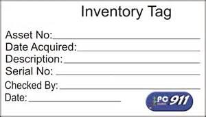 alonlinestuff pc911 inventory tag sticker