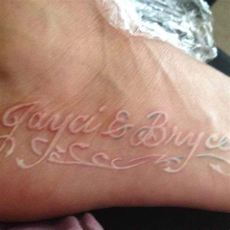 couples names tattoos 50 best white ink tattoos