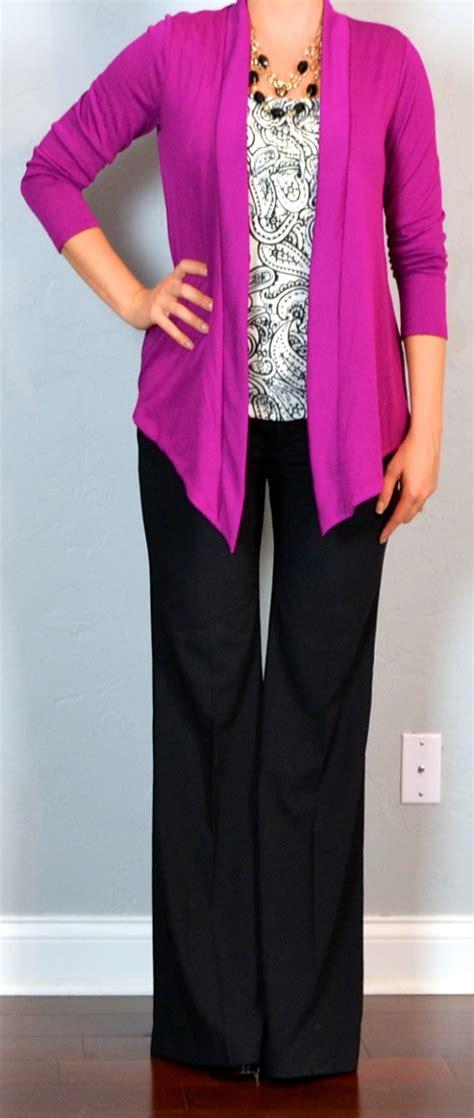Cardigan Middle Line Black post pink cardigan print blouse black