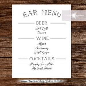 24 bar menu templates free sample example format
