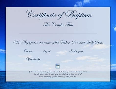 Free Baptism Certificate Template   Search Results