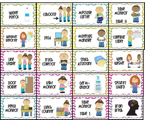 printable classroom job templates for the love of first grade student jobs in the classroom