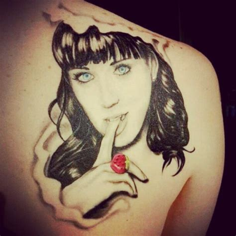 katy perry s tattoo katy perry face tattoo tattoos of famous musicians