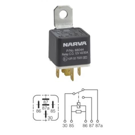 relay with diode narva relay 12v 5pin 40 30a diode