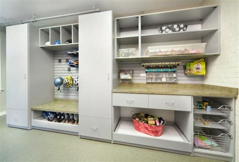 Enclosed Closet Systems by Work Station Home Office Modern Utility Room
