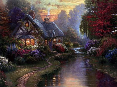 cottage kinkade cottages kinkade amanda s camelot