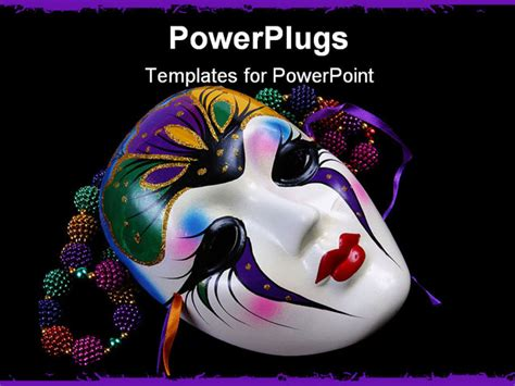 mardi gras powerpoint template powerpoint template black background with colorful
