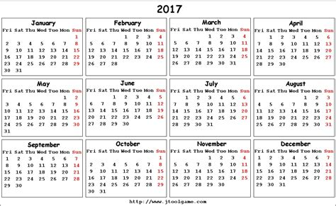 The Calendar For 2017 2017 Calendar Printable Calendar 2017 Calendar In