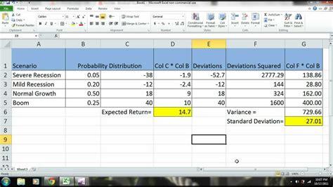 excel 2010 tutorial scenario analysis of a stock