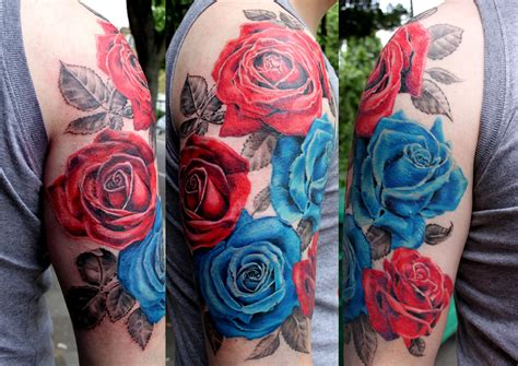 rose tattoo sleeve for men tattoos for half sleeve amazing