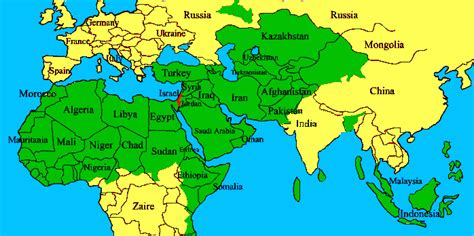 map of arab countries the israel connection middle east countries unrest part 1