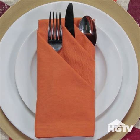 Fancy Ways To Fold Paper Napkins - 3 fancy ways to fold napkins hgtv