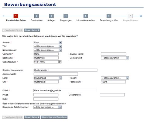 Bewerbungsformular Beispiel bewerbungsformular dokument blogs