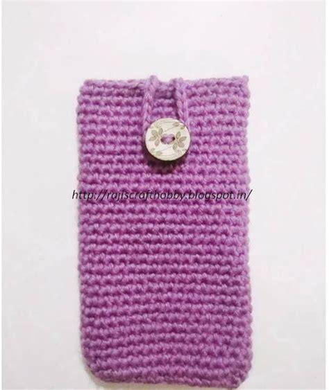 crochet mobile bag pattern mobile pouch for beginners allfreecrochet com