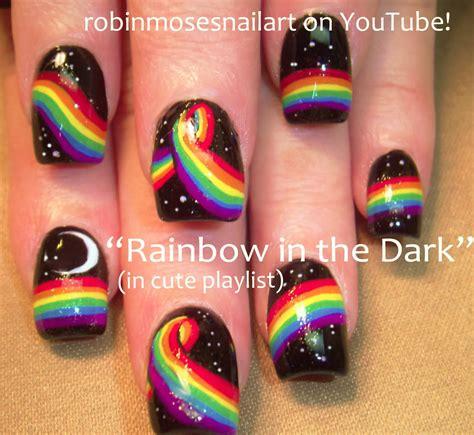 tutorial nail art rainbow robin moses nail art quot rainbow nails quot quot rainbow nail art