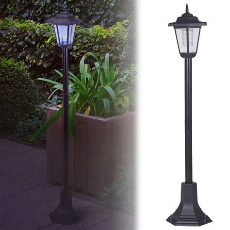 Outdoor Lantern Lights Uk Solar Powered Garden Lights Lantern L Black Led Pathway Driveway Outdoor Post Ebay