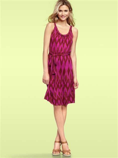 Fuschia Dress Ikat gap braided print dress in purple fuchsia ikat lyst