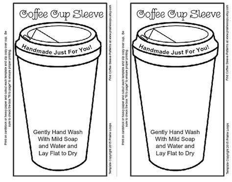 coffee cup sleeve template easy crochet and white coffee cup cozy sleeve pattern